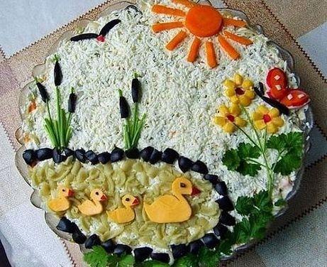Вкусные салатики для дня рождения