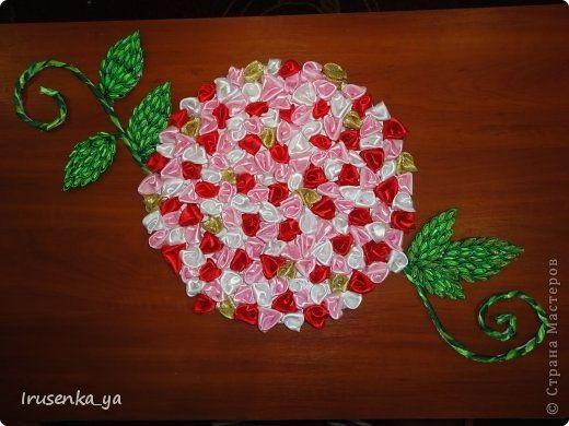 Поделки из розы атласных лент