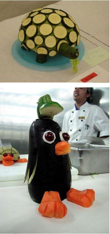Как сделать фигурки из овощей своими руками пошагово с фото