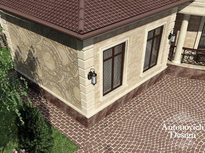 Дизайн фасада дома одноэтажного