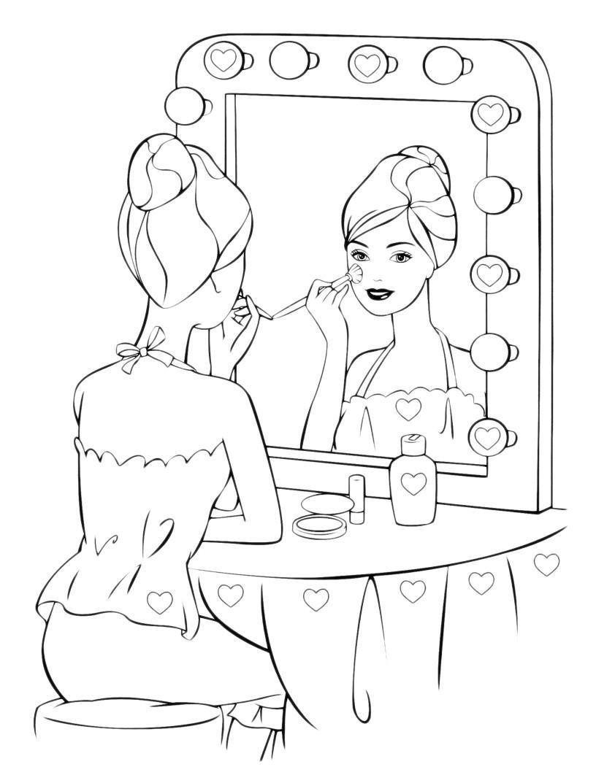Раскраски макияж для девочек онлайн бесплатно