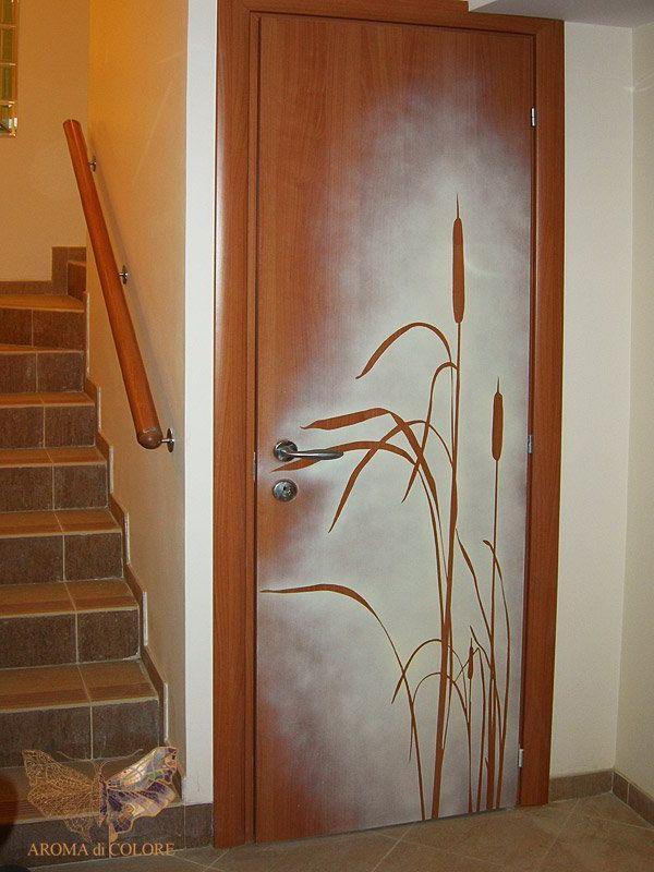 Декорирование межкомнатных дверей своими руками фото