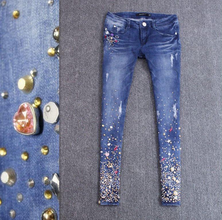 Дизайнерские джинсы женские своими руками 18