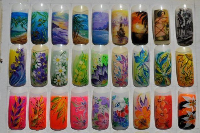Акриловые краски которыми рисуют на ногтях