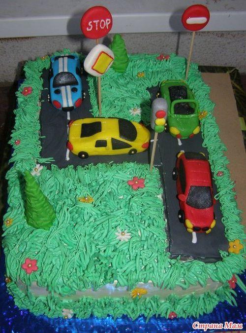 Торт на день рождения для мальчиков фото без мастики на