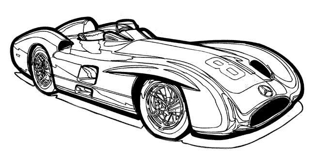 Распечатать раскраску для мальчиков машины гоночные