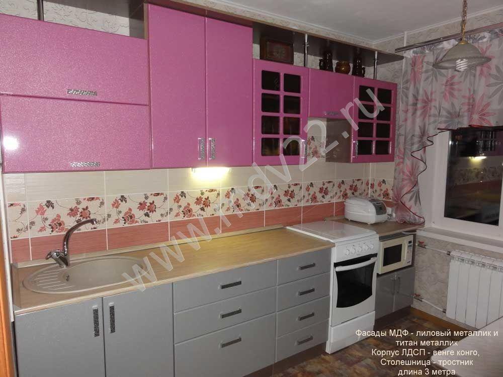 Прямая кухня 3 на 3 дизайн