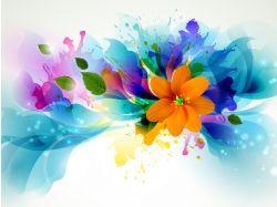 Абстракция цветы 9