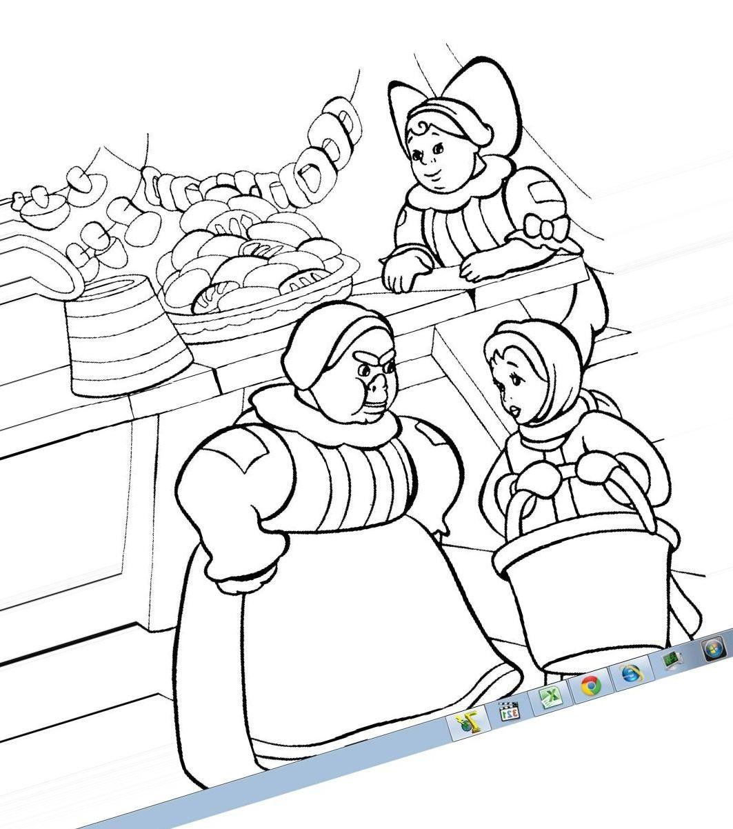 Рисунок 12 месяцев сказка рисунки детей