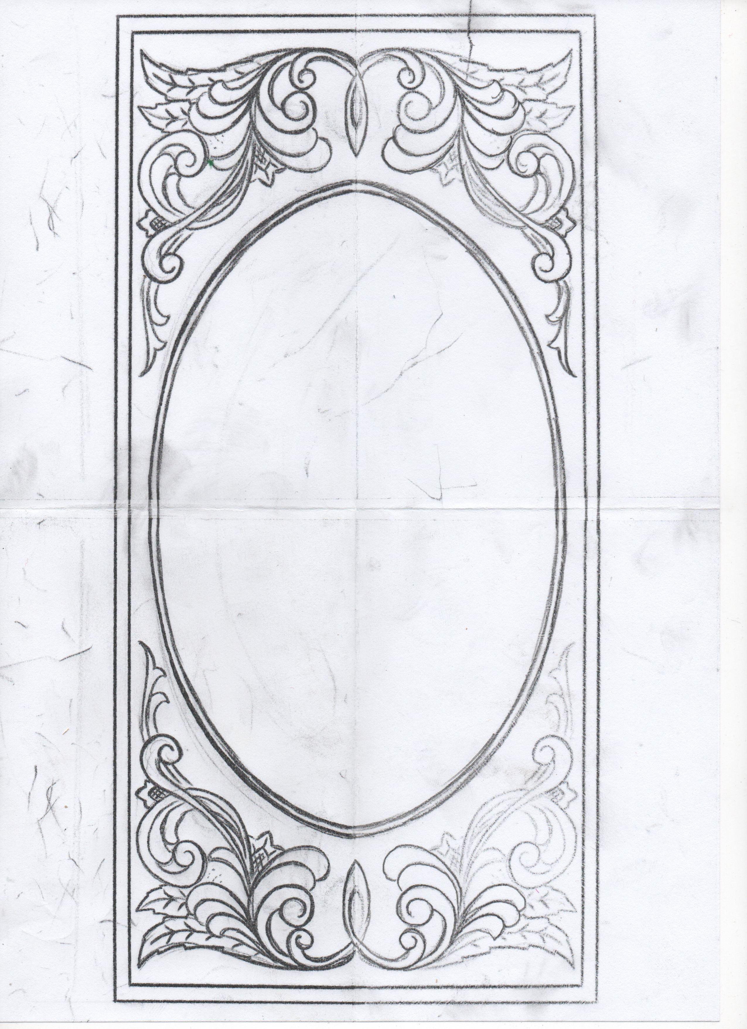 Рисунок для резьбы на прикладе