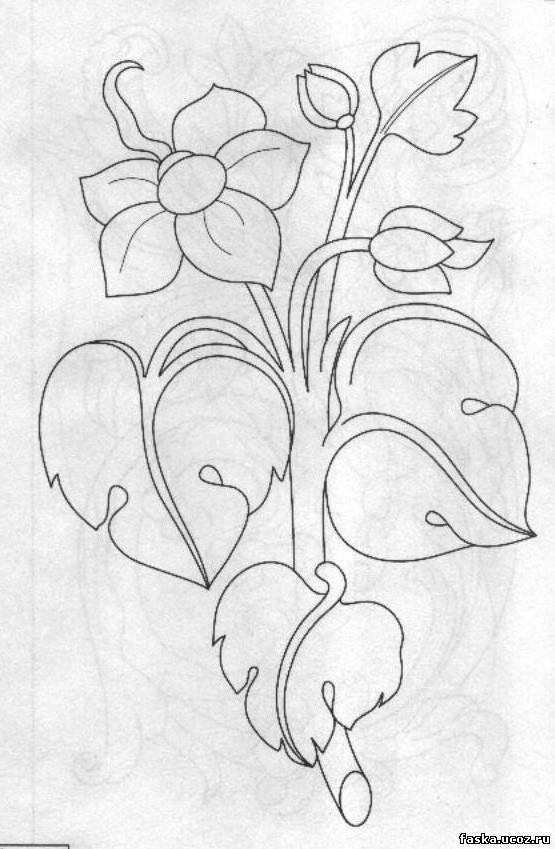 Эскиз контурного рисунка по дереву
