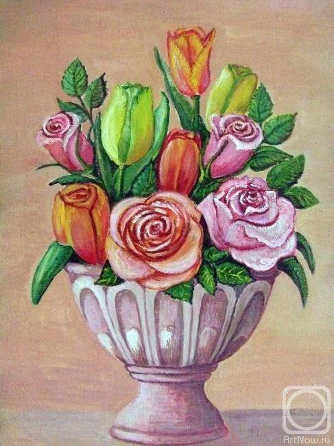 Фото рисунков цветы в вазе