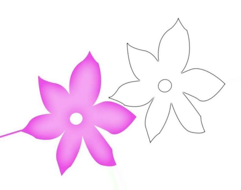 Фото цветы трафарет