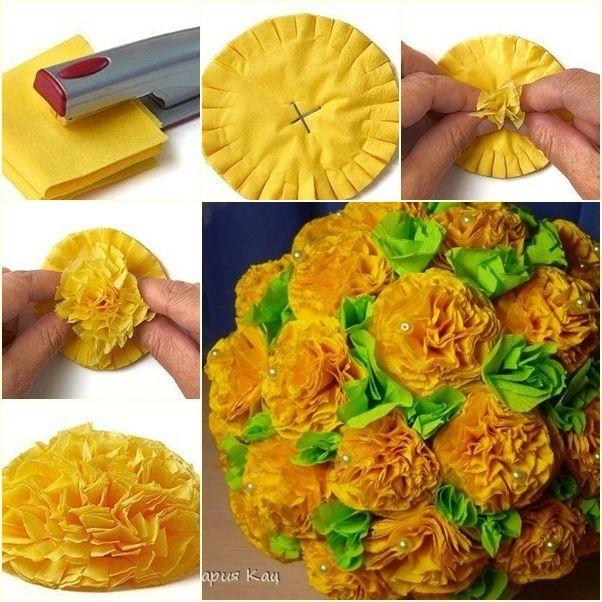 Как цветы сделать из гофрированной бумаги