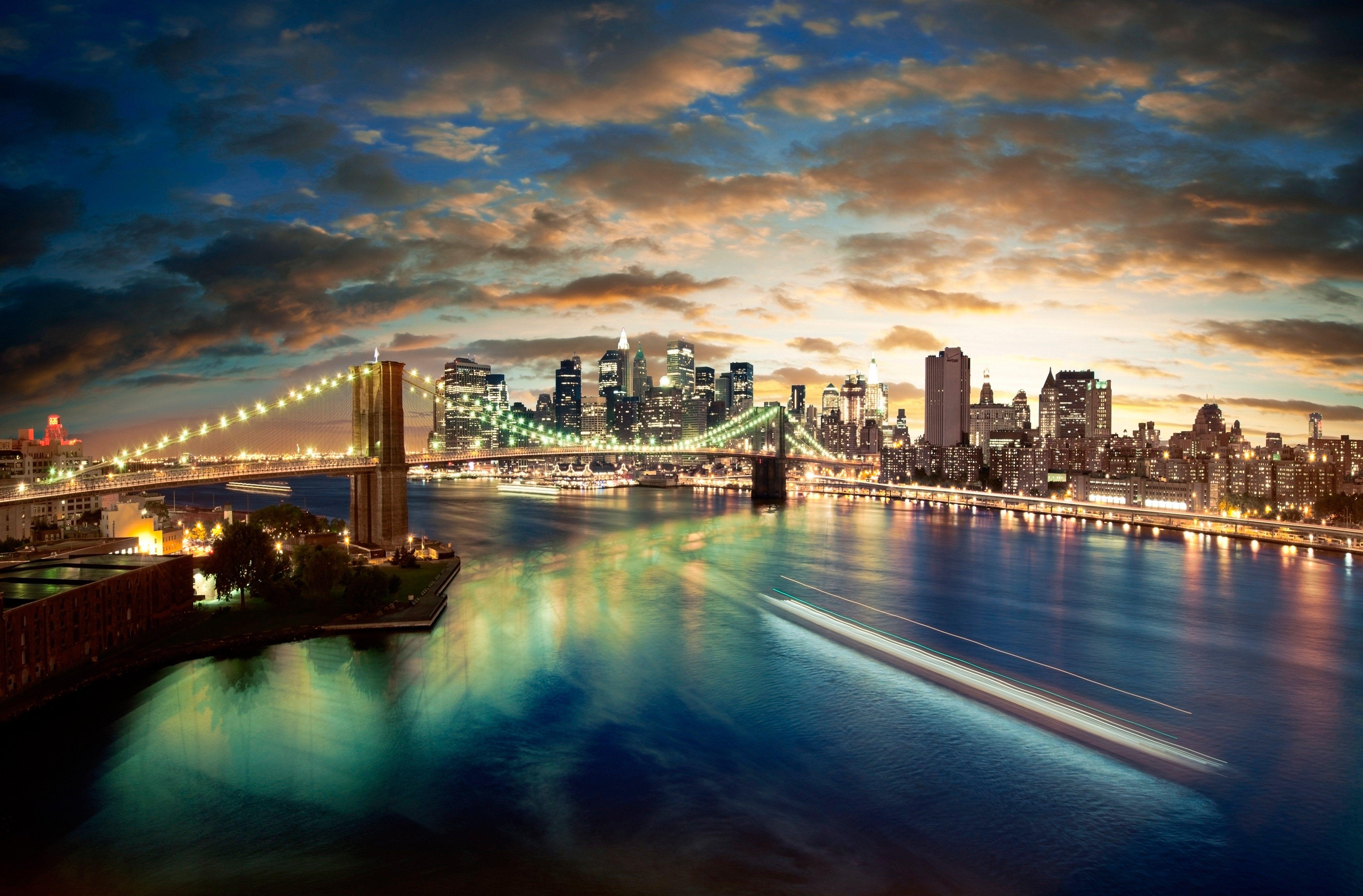 мост вечер мегаполис  № 3360559  скачать