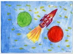 Рисунки о космосе 9