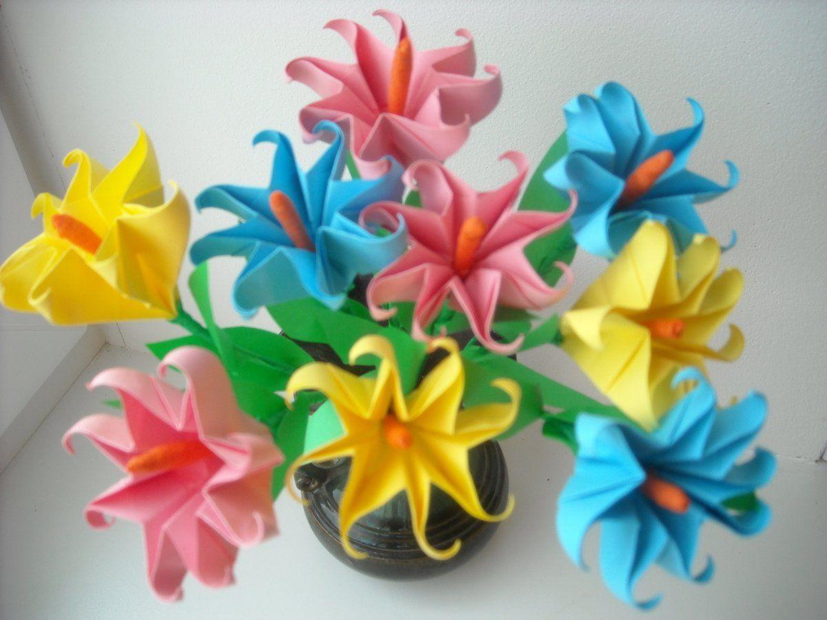 Поделки для детей цветы