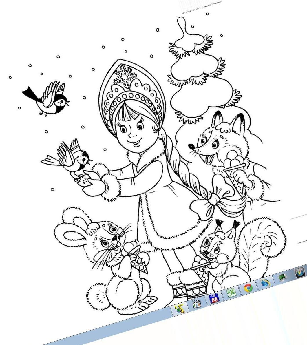 Раскраски новый год из сказки