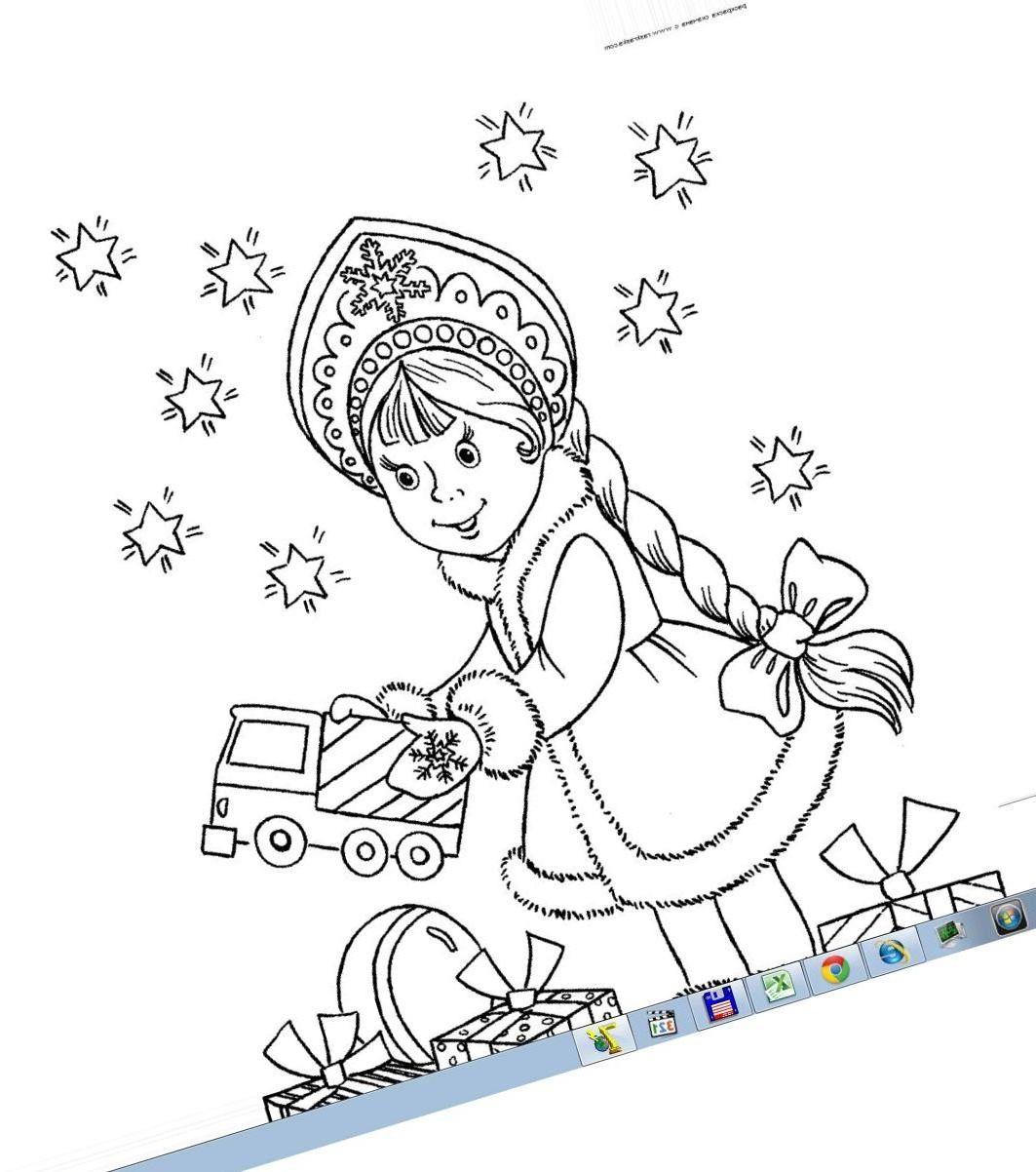 Раскраски для девочек снегурочки