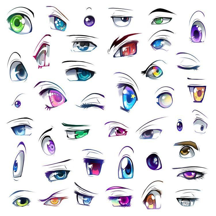 Смотреть картинки как нарисовать аниме глаза