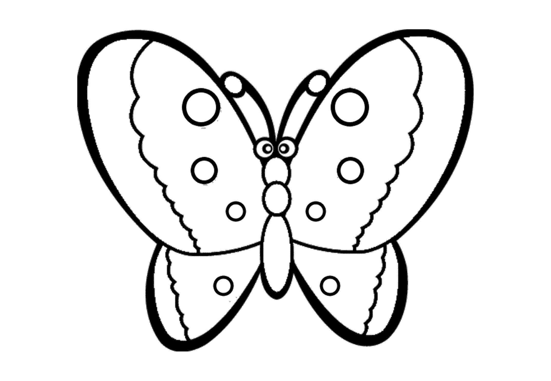 Раскраска для девочек бабочки - 4
