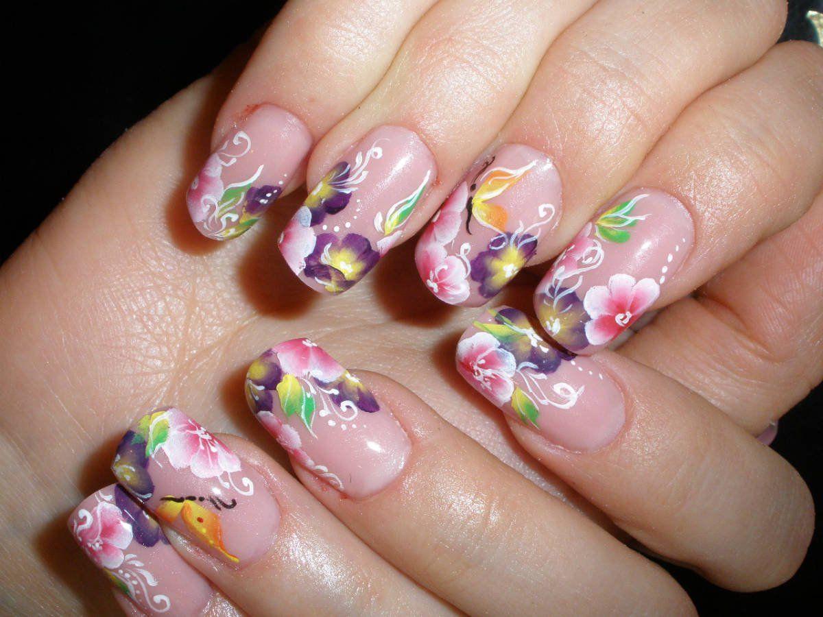Китайская роспись в ногтевом дизайне