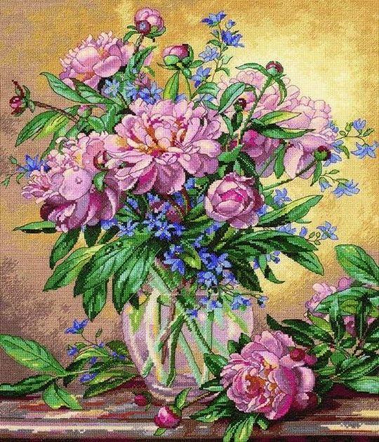 вышивка крестом цветы красивые схемы