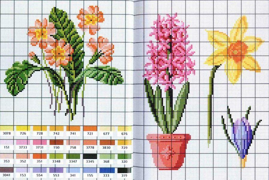 Рисунки для вышивки крестом дети