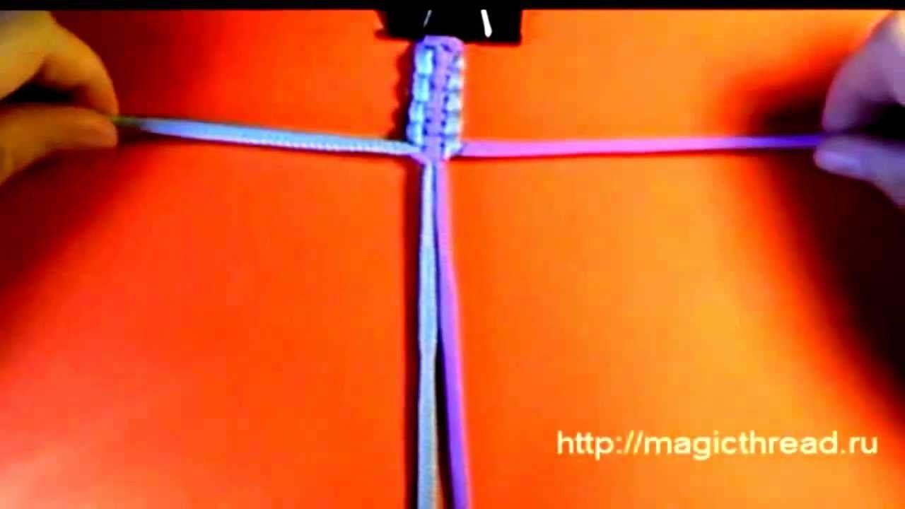 Плетение или вязание браслетов из ниток