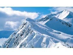 Снежные горы фото