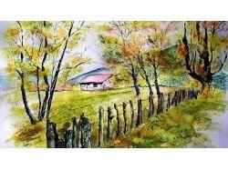 Картинки осень акварель