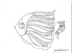 Батик рисунки рыбы