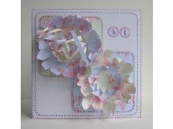 Цветы для открытки из бумаги