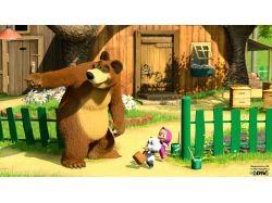 Обои на рабочий маша и медведь
