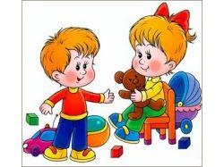 Дети занимаются в детском садике в картинках