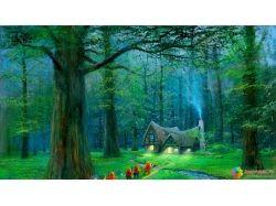 Скачать картинку сказочный красивый лес