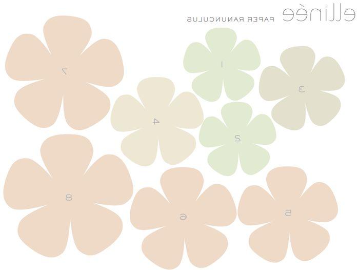 Шаблоны цветы из бумаги для скрапбукинга своими руками
