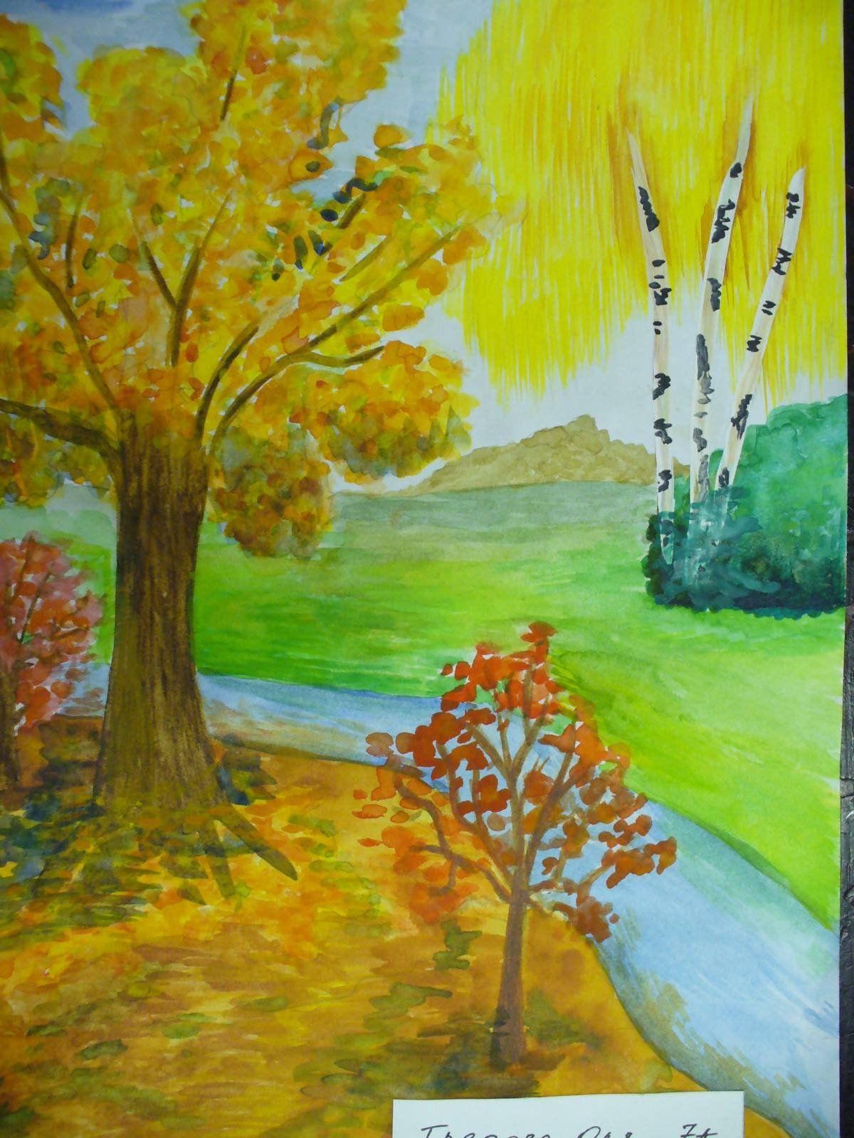 Осенние рисунки для 3 лет