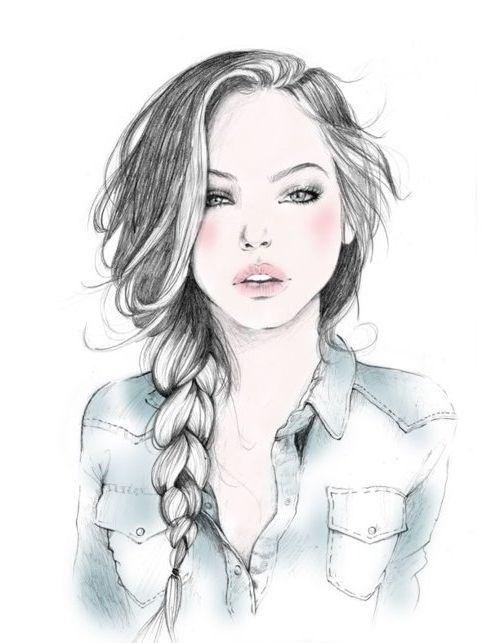 Нарисованные рисунки девушек
