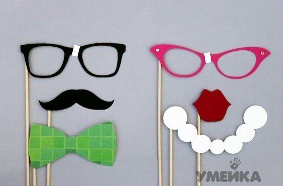 Как сделать усы из бумаги и картона