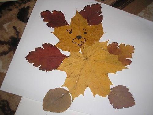 Поделки из своими руками фото из листьев