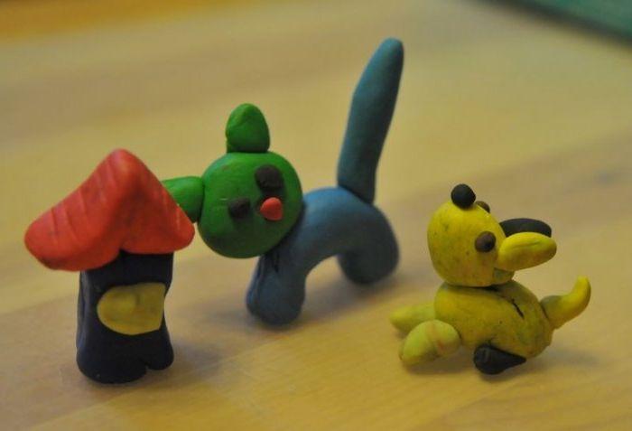 Фото поделок из пластилина для детей 3-4
