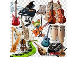 Рисунки музыкальных инструментов 6