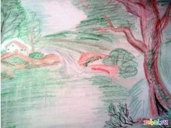Природа рисунок карандашом 2