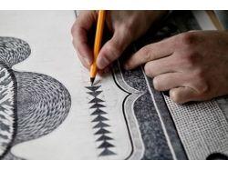 Природа рисунок карандашом 6