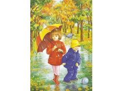 Картинки осень и дети 1