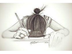 Красивые картинки девушек нарисованные 1