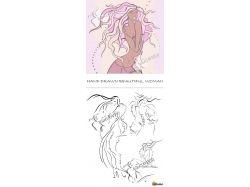 Красивые картинки девушек нарисованные 4