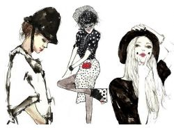Красивые картинки девушек нарисованные 5