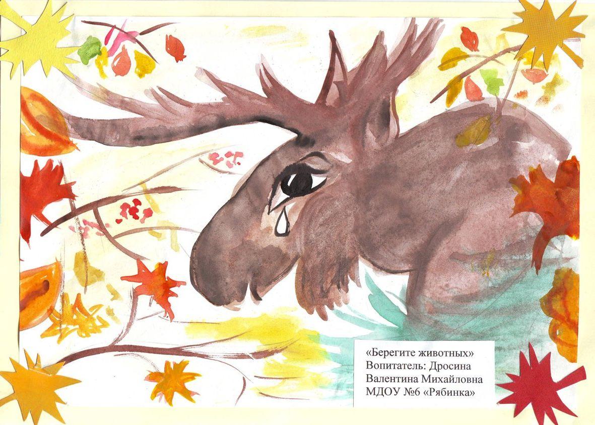 Рисунок плаката береги животных